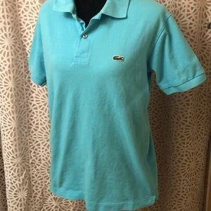 Large Men's Light Blue Lacoste Shirt